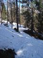 Die letzten Meter durch den jetzt schon ziemlich sulzigen Schnee und …