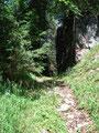 Rechter Hand vorbei an dieser führte der Wandersteig Nr. 642 uns nun zum Scheidkogel.