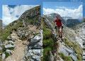 Die Route drehte sich fortan am Fuße des etwas abschüssigen felsdurchsetzten Nordwesthanges des 2211m hohen Windschartenkopfes entlang. Das wandern an diesem Traumtag machte einfach nur Freude!
