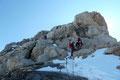 Schneekontakt ließ sich auch im hochalpinen Vergnügungspark des Dachsteinmassivs nicht vermeiden, welcher unser Unterfangen nicht gerade vereinfachte.