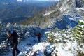 An manchen Stellen musste man schon ziemlich aufpassen um nicht ins Rutschen und somit in eine gefährliche Situation zu gelangen da die linke Seite des Bergkammes ziemlich steil abfiel.