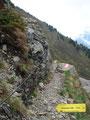 Ich eilte aber rasch den Kamm nach unter und erreichte in kürzester Zeit die Weggabelung zur Rottenmanner Hütte.