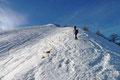 Der steile Anstieg zum Labenberg-Gipfel