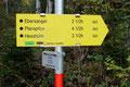 ... und schon folgten wir dem markierten Wandersteig Nr. 660 Richung Heßhütte.