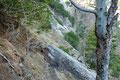 Einfach genial anzusehen wie sich der Weg  an den Felswänden entlang schlängelt.