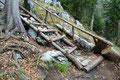 Auch in diesem Abschnitt hatte man eine Holztreppe mit witzigem Handlauf zu bewältigen, bevor …