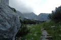…und zu guter Letzt über steile Geröllfelder unterhalb des Rinnersteins ins südseitige Kar höher.