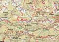 Tourenplan. Aufstieg entlang der aktuellen Tourenschiroute(blau gekennzeichnet). Auf Höhe des Sulzbodens treffen wir auf den Weg Nr. 404, der uns auf den Gipfel führte. Abstieg zuerst über Weg 404 u. E4 zur Grünburgerhütte, weiter über 480 u.16 retour.