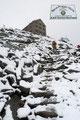 Somit hatte sich auch meine Frage beantwortet! Die Schneefallgrenze lag bei etwa 2600m. Nach ca. einer ½ Stunde waren auch die letzten 300 Höhenmeter ab der Alten Hütte zurückgelegt und jeder freute sich schon auf gemütliche Wärme.