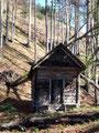 … vorbei an einer  verfallenen Hütte …