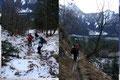 """… """"Grünau-Almsee"""" Wanderweg Nr. 420, welchen unser 5-köpfiges Team """"schneeschuhlos""""  …"""