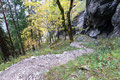 Ein Blick zurück auf den doch einigermaßen steilen Aufstiegsweg.