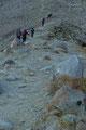 … führte über eine Seitenmoräne des Niederjochferners höher.