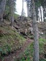 Nun bremste eine kleine rutschige Felsstufe mein zügiges Weiterkommen. Mit einigen kontrollierten Tritten war es jedoch problemlos zu überwinden und …