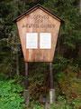 Nach etwa 1 Std. erreichte ich die auf 1300m liegende Materialseilbahn der Rottenmanner Hütte, wo auch der Pilgerweg der Religionen begann.