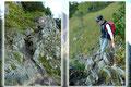 Nun galt es ein kleines seilversichertes Felsband zu überwinden, was sich aber hinterher als ziemlich harmlos und unproblematisch entpuppte.