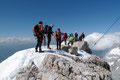 Langsam aber sicher, nach einem nur kurzweiligen Gipfelglück mussten wir wiederum an den bevorstehenden Abstieg denken. Also los ging's!