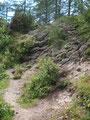 Nach einer letzten mäßig steilen Felspassage ...
