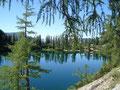 Ich konnte einfach nicht loslassen von dem tollen Panorama des auf 1500 m hoch gelegenen Bergsees und …
