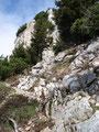 Über einige Felsstufen und …