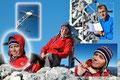 Gipfelimpressionen! Währenddessen Wolferl stolz das Gipfelbuch präsentierte, posierte unser bildhübsches Gipfelmodell glücklich und total entspannt.
