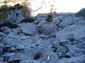 Nochmals steil im felsigen Gelände nach oben auf einem wie ich finde übertrieben gut markierten Steig ...
