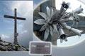 """Darüber hinaus erzählte er auch noch von seiner Errichtung des wunderschönen Gipfelkreuzes. Selbst der """"Blumenstrauß"""" in der Mitte des Holzkreuzes stammte aus seiner eigenen Werkstatt. Einfach ein außergewöhnliches Erlebnis."""