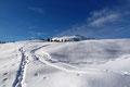 Beim neuerlichen öffnen des Geländes konnte ich, wenn auch noch fern, den Grat meines Gipfelziels ausmachen.
