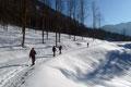 … es ziemlich monoton der winterlichen Forststraße ins Rettenbachtal talaus ging.