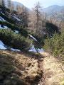 … über einen kleinen Kamm Richtung Waldgraben, folgten wir dem Weg 878.
