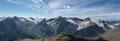 In südlicher Richtung türmten sich die Hintere Schwärze (3624m), die Marzellspitze (3500m) & der Similaun (3599m) in den Himmel und ...