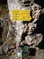 Das Törl hat sogar ein Gipfelbuch!!!