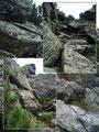 Und die besagte Rallye ging weiter, diesmal wieder bergwärts. Zuerst über Schiefergestein, Felsstufen, Felsbänder und …