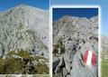 Allerdings standen uns noch etwa 1,5 km Wegstrecke, mit geringfügigen Höhenunterschieden entlang des Gratrückens, bis zu höchsten Punkt bevor. Die verkarstete Hochfläche war zwar jederzeit bestens markiert, jedoch …