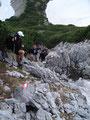 ... unzählige Male rauf und runter. Teilweise hatten wir fast schon Kletterpassagen zu bewältigen.