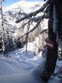 ... erreichten wir die Abzweigung Lahngang-Ostgipfel / Oberst-Klinke-Hütte.