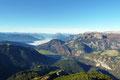 Von den Niederen Tauern über den markanten Grimming bis zum Dachstein reichte der Ausblick dieses  gut begehbaren Aussichtsgipfels.