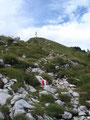 .. und schon konnten wir das Gipfelkreuz erkennen.