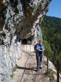 """Nachdem uns der Weg vom Predigstuhl durch den Wald auf einem steinigen Steig talwärts geführt hatte erreichten wir die """"Ewige Wand"""""""