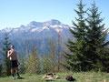 Roni ............. und im Hintergrund der Dachsteingletscher