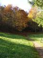 Noch ein paar Meter den Weg entlang von saftig grünen Wiesen umgeben ...
