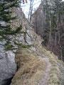 Aber das Schwierigste stand ja noch vor uns. Der letzte Anstieg auf dem imposanten, aber auch ausgesetzten Felsturm.