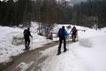 Am 2. Tag unseres Tirol-Ausflugs ging es gleich nach dem kräftigen Frühstück von unserem Quartier GH Wegscheid wiederum vorbei an der Materialseilbahn in Richtung der obersten Parkmöglichkeit.