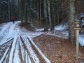Tourbeginn war um 08.00 Uhr beim Gasthof Bürglstein. Wir parkten unser Auto ein paar Meter weiter im Wald und marschierten los.