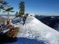 Kammverlauf zum ungeschmückten Windkogel-Gipfel