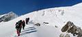 … erreichte ihn schlussendlich am Beginn des Gletschers auf knapp 3000m Seehöhe.