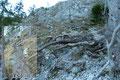 Zwischen den Kletterpassagen war jedoch immer wieder kurzes erholsames Gehgelände zum Durchschnaufen, das uns in Serpentinen hinauf führte.