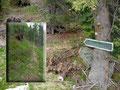 Ein uraltes Schild wies uns den Weg zur Rottenmanner Hütte.