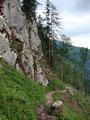 Meter für Meter kamen wir unserem ersten Tagesziel, der Rinner Hütte, immer näher.