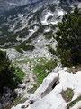 Ein kurzer Blick zurück auf unseren bereits absolvierten Aufstiegsweg ...